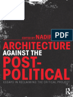 Archtecture Against the Postpolitical  ed. NadirLahiji