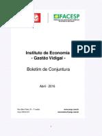 Boletim de Conjuntura ACSP Abril 2016
