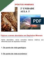 Depósitos Minerais - Conceitos Gerais.