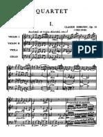 Debussy -Quatuor à cordes en sol mineur