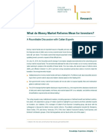 What do Money Market Reforms Mean for Investors? A Roundtable Discussion with Callan Experts