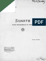 Debussy-Sonate Pour Violoncelle Et Piano