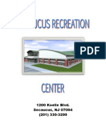 Secaucus Recreation Center Membership Booklet