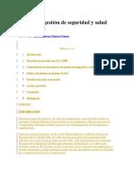 Sistema de Gestión de Seguridad y Salud Ocupacional