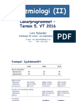 Epidemiologi II Lars Rylander (1)