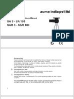 SA 3 - SA 100 Auma Norm [Operation & Instructions Manual]