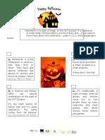 Celebrating Hallowe'en! - Reading Comprehension
