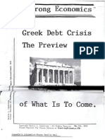 Greek Debt Crisis--The Preview of What is to Come 5-6-10