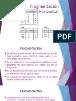 Fragmentación Horizontal