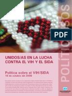 08. Politica de VIH y SIDA