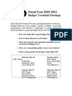 Budget Fiscal Year 2011 Meetings Rev 5 11[1]