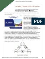 Sistemas Materiales y Separación de Fases – Química y Algo Más