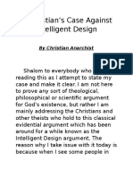 a christian and intelligent design