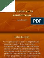Los Costos en La Construcción