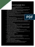 Manual de Google Docs