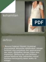 tanda - tanda kehamilan