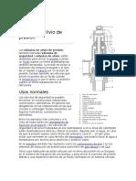 Válvula de Alivio de Presión Imprimir