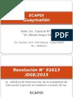 ECAPDI 2do Encuentro Agosto 2015 .