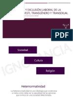 Integración Sociolaboral de Personas Transexuales y Transgénero