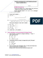 Soal Ulangan Harian Matematika Kelas 4 Ktsp Bab Bilangan Bulat Smstr 2-Www.tersatu.com