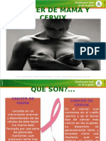 Cancer de Mama y Cervix