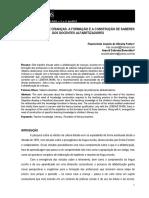 FONTES; BENEVIDES. - Alfabetização de Crianças - A Formação e a Construção de Saberes Dos Docentes Alfabetizadores
