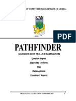 Pathfinder NOV 2015 Skills Level