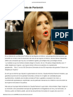 09-05-16 La herencia feminista de Pavlovich. -Siempre