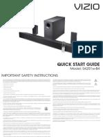VIZIO S4251 Sound Bar Manual.pdf