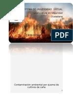 Contaminacion Ambiental Quema de Caña