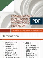 1. Formulación y Evaluaciónd de Proyectos de Inversión