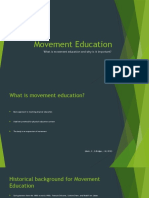 Movement Education and Fundemental Movement Skills