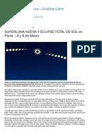 SUPERLUNA NUEVA Y ECLIPSE TOTAL DE SOL en Piscis – 8 y 9 de Marzo   Astrología Arquetípica - Cristina Laird