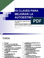 15 CLAVES PARA MEJORAR LA AUTOESTIMA.pps