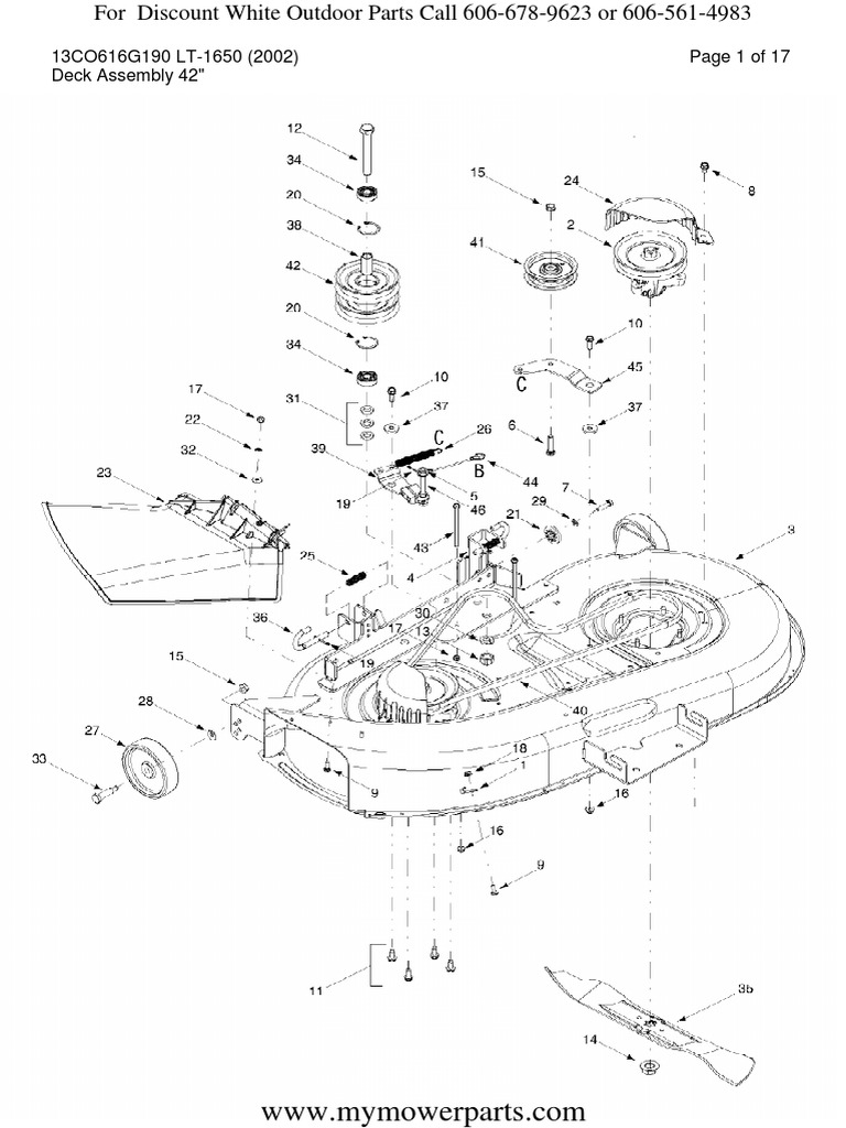 White Outdoor Parts Manual 13CO616G190 LT 1650 Year 2002