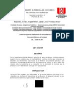 Informe 3 Ley de Ohm Final