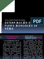 Determinación de Plomo Inorgánico en Orina