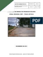 PP40 MPA1 P5 Programa de manejo de residuos sólidos Boyacá v1