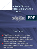 Slide and Presentation Sharing Sites