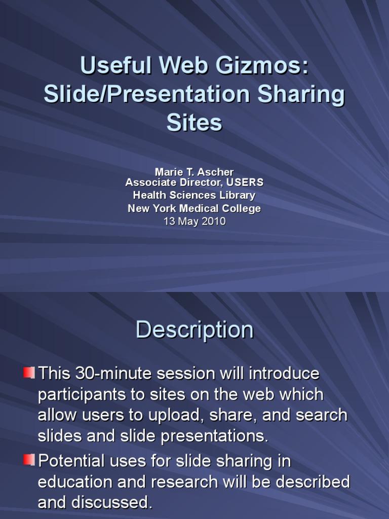slide and presentation sharing sites scribd i work