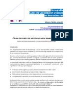 Como Favorecer Aprendizajes Significativas Monografia Neurociencias Natalia.amarotti