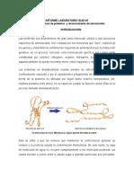 Desnaturalización y Determinación de proteinas