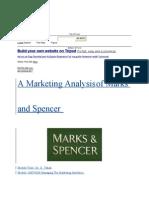 Marketing Anallysis of Marks and Spender