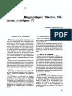 L'Approche Biographique- Théorie, Méthode, Pratiques - Legrand (1993)