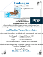 Contoh Undangan Aqiqah Doc Simpel (Kertas A4 Dibagi 1)