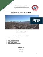 Informe de Petrologia Salida de Campo