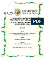 Ensayo de contaminación ambiental en JLO - Chiclayo