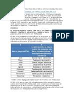 Aspectos a Considerar Para Solicitar La Devolución Del Itan 2015