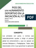 Diapositivas Principios Del Entrenamiento en La Iniciación Al Fútbol