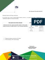 Cotización Broshures y Hojas de Diferentes Tamaño.